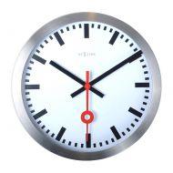 Zegar ścienny 19 cm Nextime Station biały