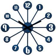 Zegar ścienny 24 cm Koziol Pinball kobaltowy