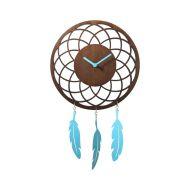 Zegar ścienny 24 cm NeXtime Dreamcatcher brązowy