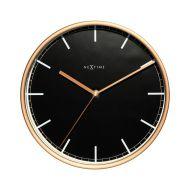 Zegar ścienny 25 cm NeXtime Company czarno-miedziany