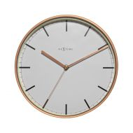 Zegar ścienny 25 cm NeXtime Company biało-miedziany