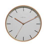 Zegar ścienny 30 cm NeXtime Company biało-miedziany