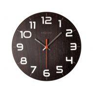 Zegar ścienny 30x30 cm Nextime Classy orzech
