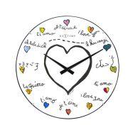 Zegar ścienny 35 cm NeXtime Loving You Dome