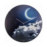 Zegar ścienny 35 cm Nextime New Moon Dome niebieski