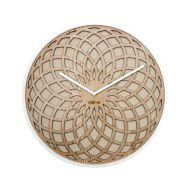 Zegar ścienny 35 cm NeXtime Sun Small beżowy