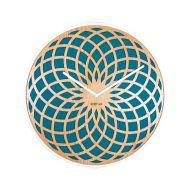 Zegar ścienny 35 cm NeXtime Sun Small turkusowy