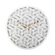 Zegar ścienny 36 cm Nextime Discrete biały