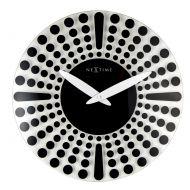 Zegar ścienny 43 cm NeXtime Dreamtime czarny