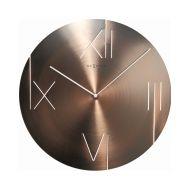Zegar ścienny 43 cm NeXtime Galileo miedziany