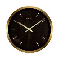 Zegar ścienny 44 cm Nextime Stripe czarny