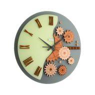 Zegar ścienny Incantesimo Design Mekkanico drewno wiśniowe