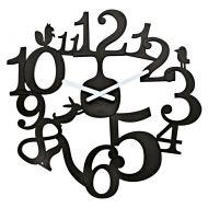Zegar ścienny Koziol Pi:p czarny
