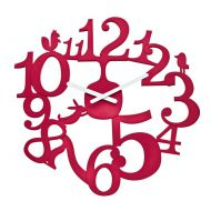Zegar ścienny Koziol Pi:p malinowy