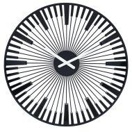 Zegar ścienny Koziol Piano czarny