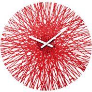 Zegar ścienny Koziol Silk czerwony
