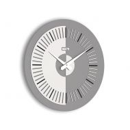 Zegar ścienny Meridium Incantesimo Design szaro-czarny