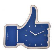 Zegar ścienny Nextime Thumbs Up niebieski