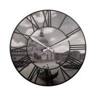 Zegar ścienny Nextime Venice czarno-biały