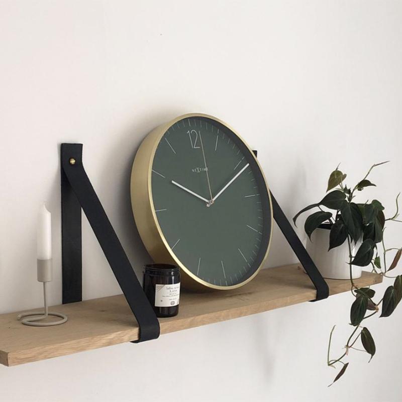 Złoty zegar ścienny Nextime
