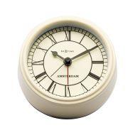 Zegar stojący 11 cm Nextime Amsterdam kremowy