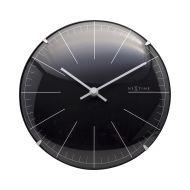 Zegar stojący 20 cm Nextime Big Stripe Mini Dome czarny
