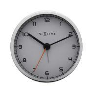 Zegar stojący 9 cm Nextime Company Alarm biały