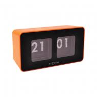 Zegar stojący Nextime Flipped pomarańczowy