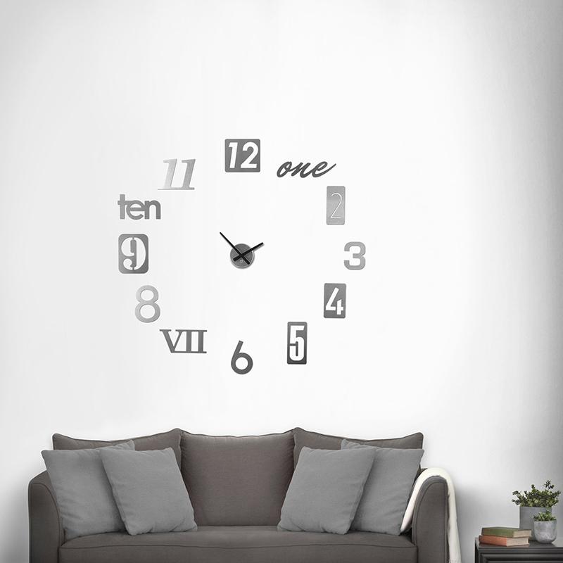 zegar przyklejany na ścianę umbra numbra