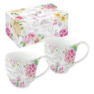 Zestaw 2 kubków z porcelany Nuova R2S Queen's Garden