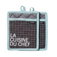 Zestaw 2szt. uchwytów do naczyń La Cuisine Ladelle czarno-miętowy
