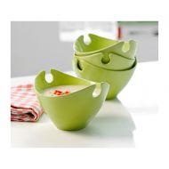 Zestaw 4 misek ceramicznych zielonych