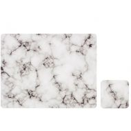 Zestaw 4 szt. podkładek 10x10cm Ladelle Stone Marble czarno-biały