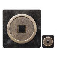 Zestaw 4 szt. podkładek 10x10cm Ladelle Lucky Coin czarno-szary