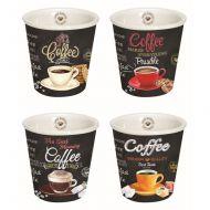 Zestaw kubków do espresso 4szt 0,08L Nuova R2S czarny