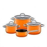 Zestaw garnków z rondelkiem 4szt Silit Passion Orange pomarańczowy