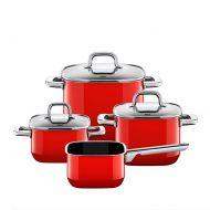 Zestaw garnków 4szt Silit Quadro Red czerwony