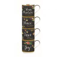Zestaw kubków świątecznych 4szt 275ml Nuova R2S Christmas Peace Love
