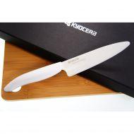 Nóż do plastrowania 13cm ceramiczny + deska bambusowa Kyocera