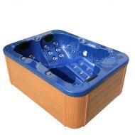 Zewnętrzne spa niebieskie - ogrodowe - wanna - whirlpool - Rufo